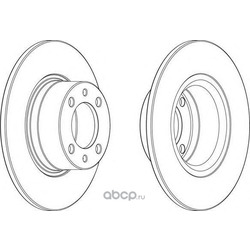 Тормозной диск (Ferodo) DDF1035