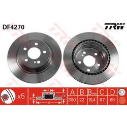 Диск тормозной вентилируемый (TRW/Lucas) DF4270
