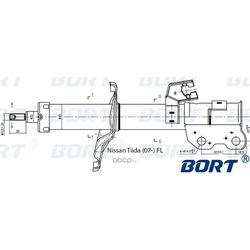 Стойка амортизационная газомасляная передняя левая (BORT) G22045115L