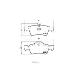 Колодки тормозные, комплект, задние (Brembo) P50052