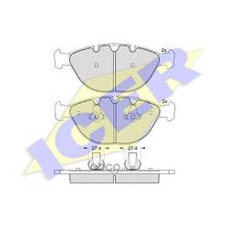 Комплект тормозных колодок, дисковый тормоз (Icer) 181547