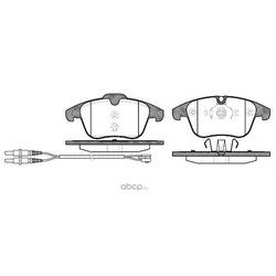Комплект тормозных колодок, дисковый тормоз (Remsa) 124901