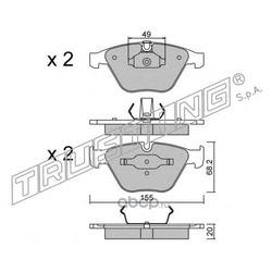 Комплект тормозных колодок, дисковый тормоз (Trusting) 5740