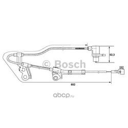 Датчик, частота вращения колеса (Bosch) 0265006676
