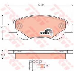 Комплект тормозных колодок, дисковый тормоз (TRW/Lucas) GDB1633