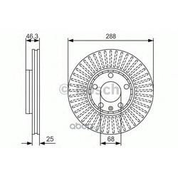 Тормозной диск (Bosch) 0986479R82