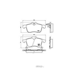 Колодки тормозные дисковые передние, комплект (Brembo) P59045