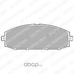 Комплект тормозных колодок, дисковый тормоз (Delphi) LP1305