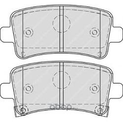 Комплект тормозных колодок, дисковый тормоз (Ferodo) FDB4252