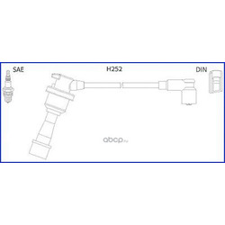 Комплект проводов зажигания (Huco) 134480