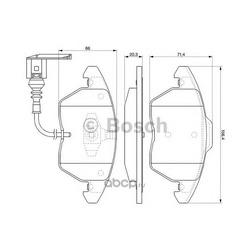 Колодки тормозные дисковые, комплект (Bosch) 0986424797