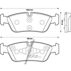 Комплект тормозных колодок, дисковый тормоз (Jurid) 573138J