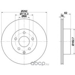 Диск тормозной TEXTAR (Textar) 92144003