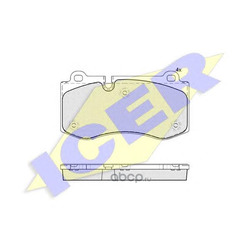 Колодки тормозные дисковые, комплект (Icer) 181796