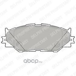 Колодки тормозные дисковые, комплект (Delphi) LP1977