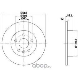 Тормозной диск (Mintex) MDC2132