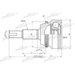 ШРУС наружный с кольцом ABS 30x62x26 ABS:48T TOYOTA CAMRY ACV30/MCV30 01-06 (PATRON) PCV1433