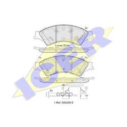 Комплект тормозных колодок, дисковый тормоз (Icer) 182109