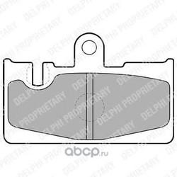 Комплект тормозных колодок, дисковый тормоз (Delphi) LP1690
