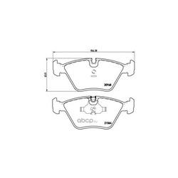 Комплект тормозных колодок, дисковый тормоз (Brembo) P06012