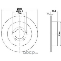 Тормозной диск (Mintex) MDC2041