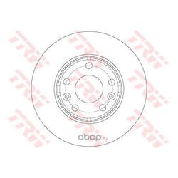 Тормозной диск (TRW/Lucas) DF6072