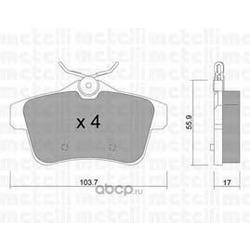 Комплект тормозных колодок, дисковый тормоз (Metelli) 2208550