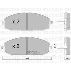 Комплект тормозных колодок, дисковый тормоз (Metelli) 2204070