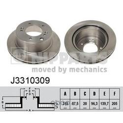 Тормозной диск (Nipparts) J3310309