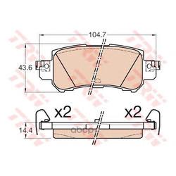 Комплект тормозных колодок (TRW/Lucas) GDB3539