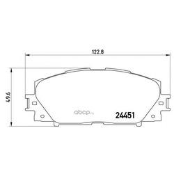 Колодки тормозные, комплект, передние (Brembo) P83106