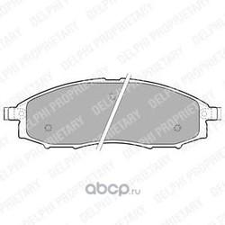 Колодки торм. диск. перед Nissan Navara (D40M) 05- Pathfinder (R51M) 05- (Delphi) LP1772