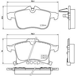 Комплект тормозных колодок, дисковый тормоз (Hella) 8DB355009221