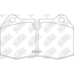 Колодки тормозные дисковые (NiBK) PN0165
