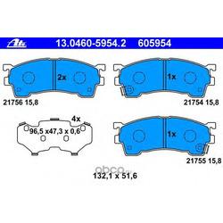 Колодки тормозные дисковые, комплект (Ate) 13046059542