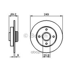 Диск тормозной (Bosch) 0986479255