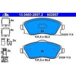 Колодки тормозные дисковые, комплект (Ate) 13046028572