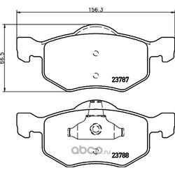 Комплект тормозных колодок, дисковый тормоз (Hella) 8DB355027951
