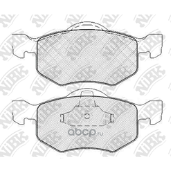Колодки тормозные дисковые (NiBK) PN5805