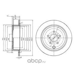 Диск тормозной вентилируемый|полный (Delphi) BG4158