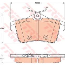 Комплект тормозных колодок, дисковый тормоз (TRW/Lucas) GDB1828