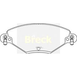 Комплект тормозных колодок, дисковый тормоз (BRECK) 232770070110