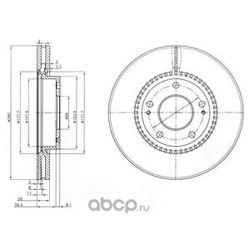 Диск тормозной вентилируемый (Delphi) BG3861