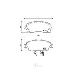 Колодки тормозные дисковые передние, комплект (Brembo) P59036