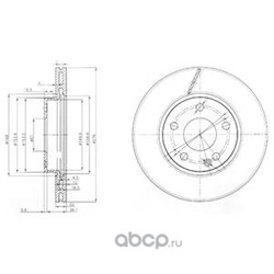 Тормозной диск (Delphi) BG3845