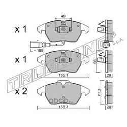Комплект тормозных колодок, дисковый тормоз (Trusting) 5640