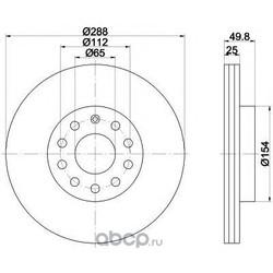 Тормозной диск (Mintex) MDC1638