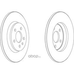 Тормозной диск (Ferodo) DDF1666