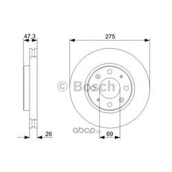 Тормозной диск (Bosch) 0986479369