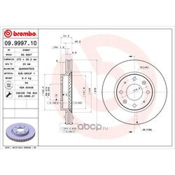 Тормозной диск (Brembo) 09999710